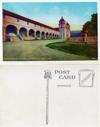 Postcard from the Santa Barbara Mission, California