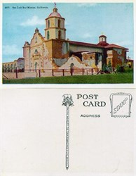 Postcard from San Luis Rey Mission, California