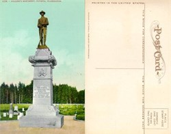 Postcard from Soldier's Monument Olympia, Washington 1910