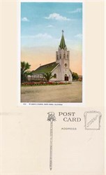 Postcard from St. Mary's Church, Santa Maria, California