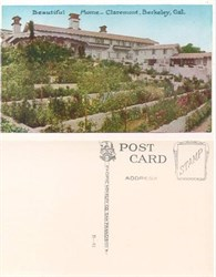 Postcard of a beautiful home in Claremont, Berekeley, California