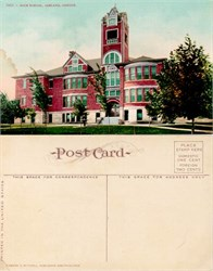 Postcard of the High School, Ashland, Oregon