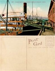 Postcard of Loading Wheat with an Automatic Conveyor, Portland, Oregon