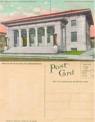 Postcard of the New Post Office, Santa Rosa, California