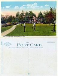 Postcard of the Park Hill Inn Lawn, Hendersonville, N.C.