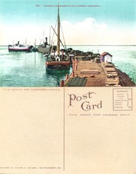 Postcard of shipping on the Humboldt Bay, Eureka, California