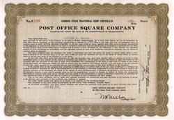 Post Office Square Company 1937 - Massachusettes
