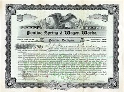 Pontiac Spring & Wagon Works (Made 1st Pontiac Car -  Early GM Company) - Pontiac, Michigan 1907