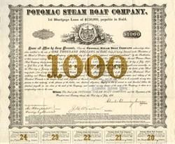 Potomac Steam Boat Company - Virginia 1878