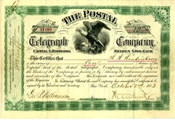 Postal Telegraph Company - New York, 1883