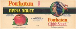 Powhatan Brand Apple Sauce Label