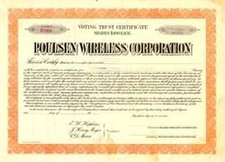 Poulsen Wireless Corporation - Arizona 1911