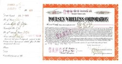 Poulsen Wireless Corporation - Arizona 1911 signed by George A. Pope