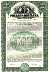 Poulsen Wireless Corporation - Territory of Arizona 1911