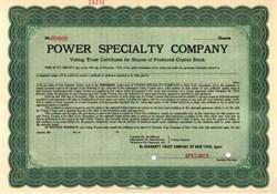 Power Specialty Company 1919 ( Original Foster Wheeler Company )