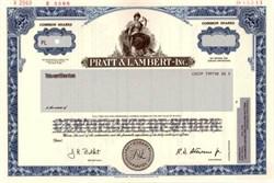 Pratt & Lambert - Inc. ( Paint Company )