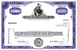 Pratt & Lambert Inc.