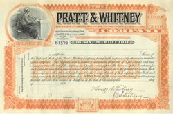 Pratt & Whitney Company Signed by Amos Whitney SCARCE