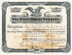 Press Claims Company of Washington D.C. - Virginia 1894