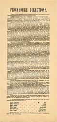 Original Gold Processing Procedure Directions - 1890's