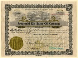 Prudential Elk Basin Oil Company - Montana 1917