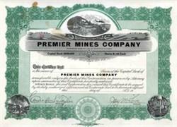 Premier Mines Company - California
