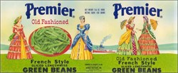 Premier Old Fashioned French Style Green Beans Label