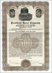 President Hotel Company 1930 - New Jersey