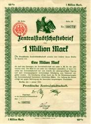 German Bond - 1 Million Mark 1923