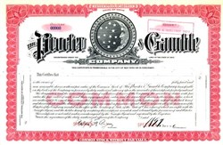 Procter & Gamble Company ( Early Moon and Stars Logo)  - Rare Stock Certificate 1920