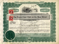 Provo Gun Club on the Bear River (duck hunter vignette)  - 1925