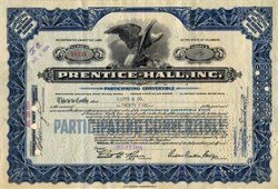 Prentice - Hall Book Company - Founder Richard Prentice Ettinger as President - 1934