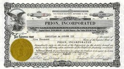 Prion, Incorporated - California 1977