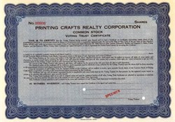 Printing Crafts Realty Corporation