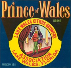 Prince of Wales Brand Citrus Label