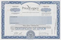 Price Legacy Corporation - Maryland