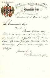 Providence, Norffolk, & Baltimore Steamship Line - Rhode Island 1878