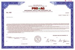 PRO AG - Professional Agricultural Management, Inc.