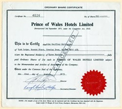 Prince of Wales Hotels Limited - 1979
