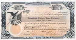 Providence Canyon Land Company 1906 - Utah