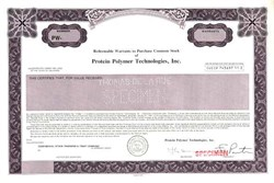 Protein Polymer Technologies, Inc. - Delaware
