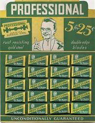 Professional Razor Blade Display - 100 unused razor blades in original packaging - Newark, New Jersey