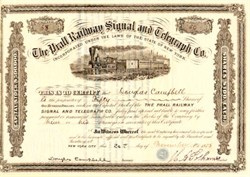 Prall Railway Signal and Telegraph Co. - 1876 New York