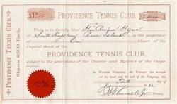Providence Tennis Club - Rhode Island 1882