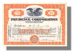 Prudence Corporation 1928 - California