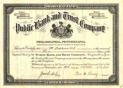 Public Bank and Trust Company - Pennsylvania 1921