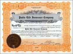 Public Life Insurance Company 1920's
