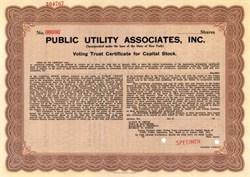 Public Utility Associates, Inc.