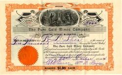 Pure Gold Mines Company - Arizona 1904