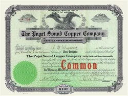 Puget Sound Copper Company 1921